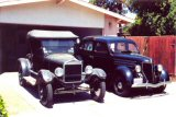 1926 Model T, 1936 Ford and 1958 Edsel