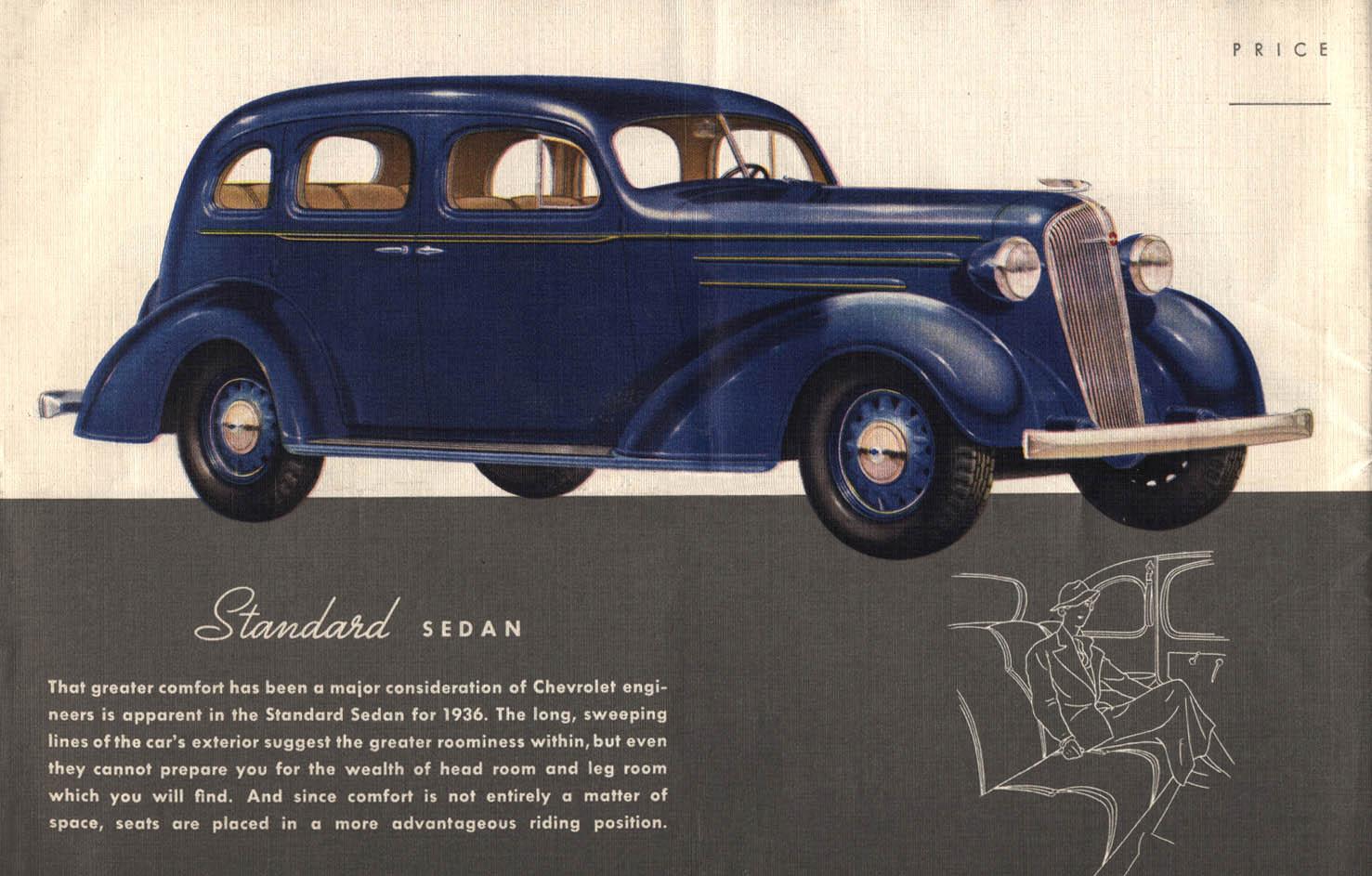 Car brochures 1936 chevrolet brochure for 1936 chevrolet 4 door sedan