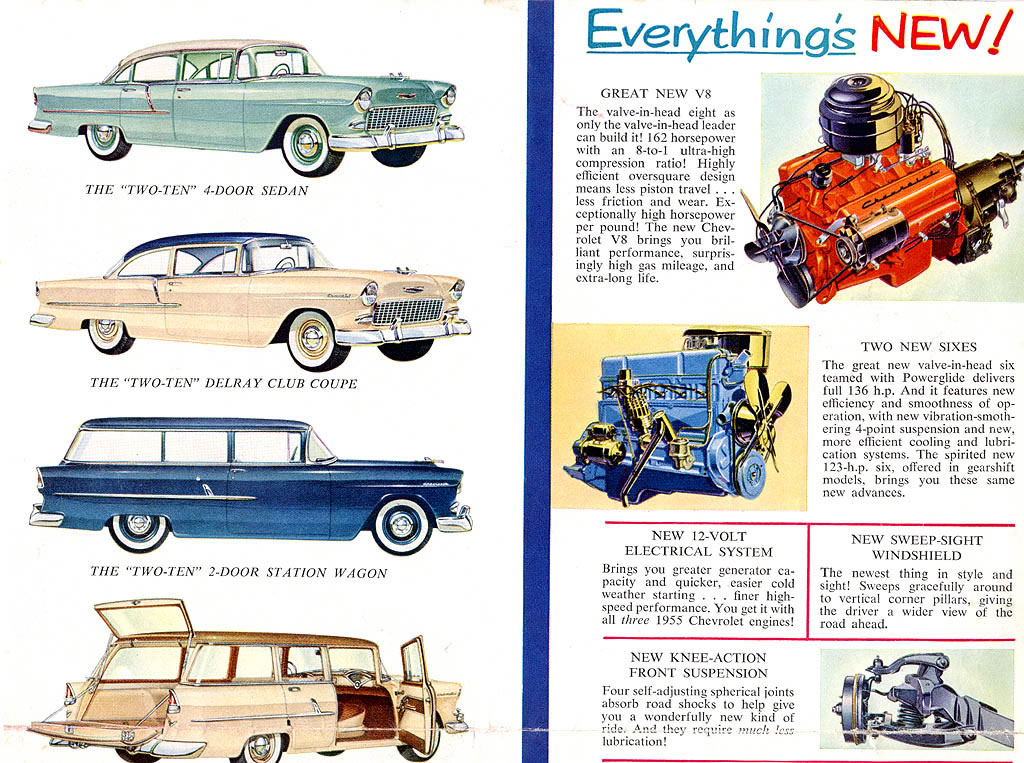 Car Brochures - 1955 Chevrolet Car Brochure / 1955 Chevrolet
