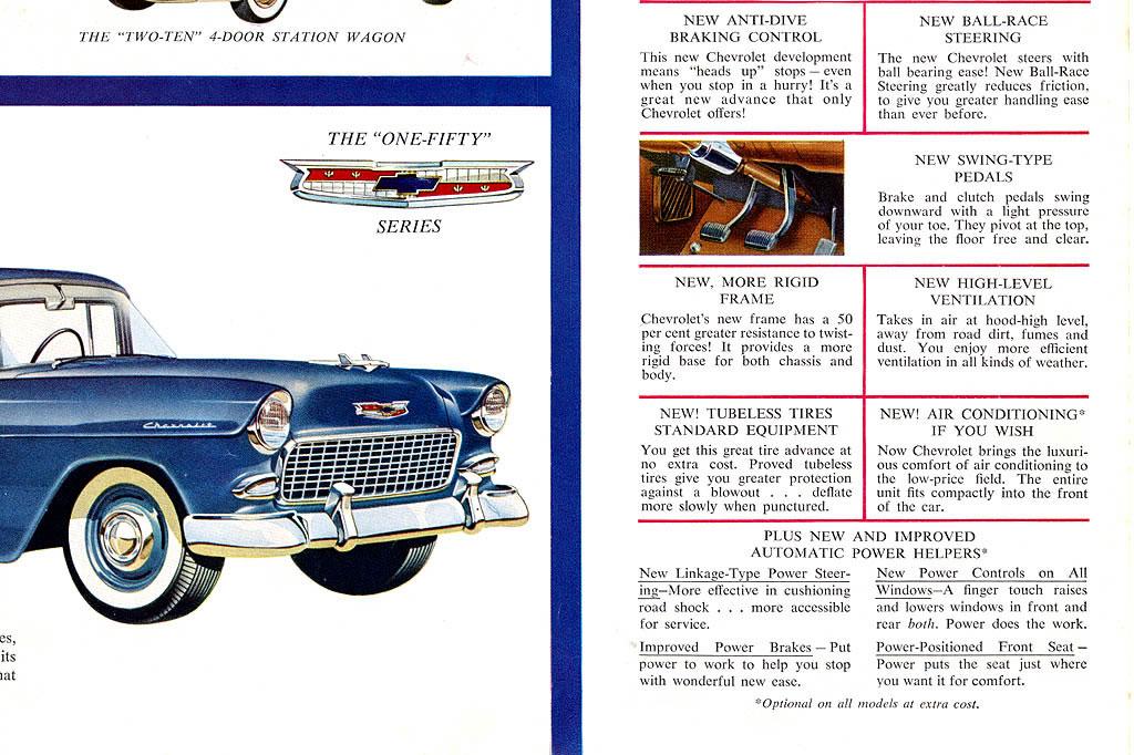 Car Brochures - 1955 Chevrolet Car Brochure / 1955 Chevrolet ...