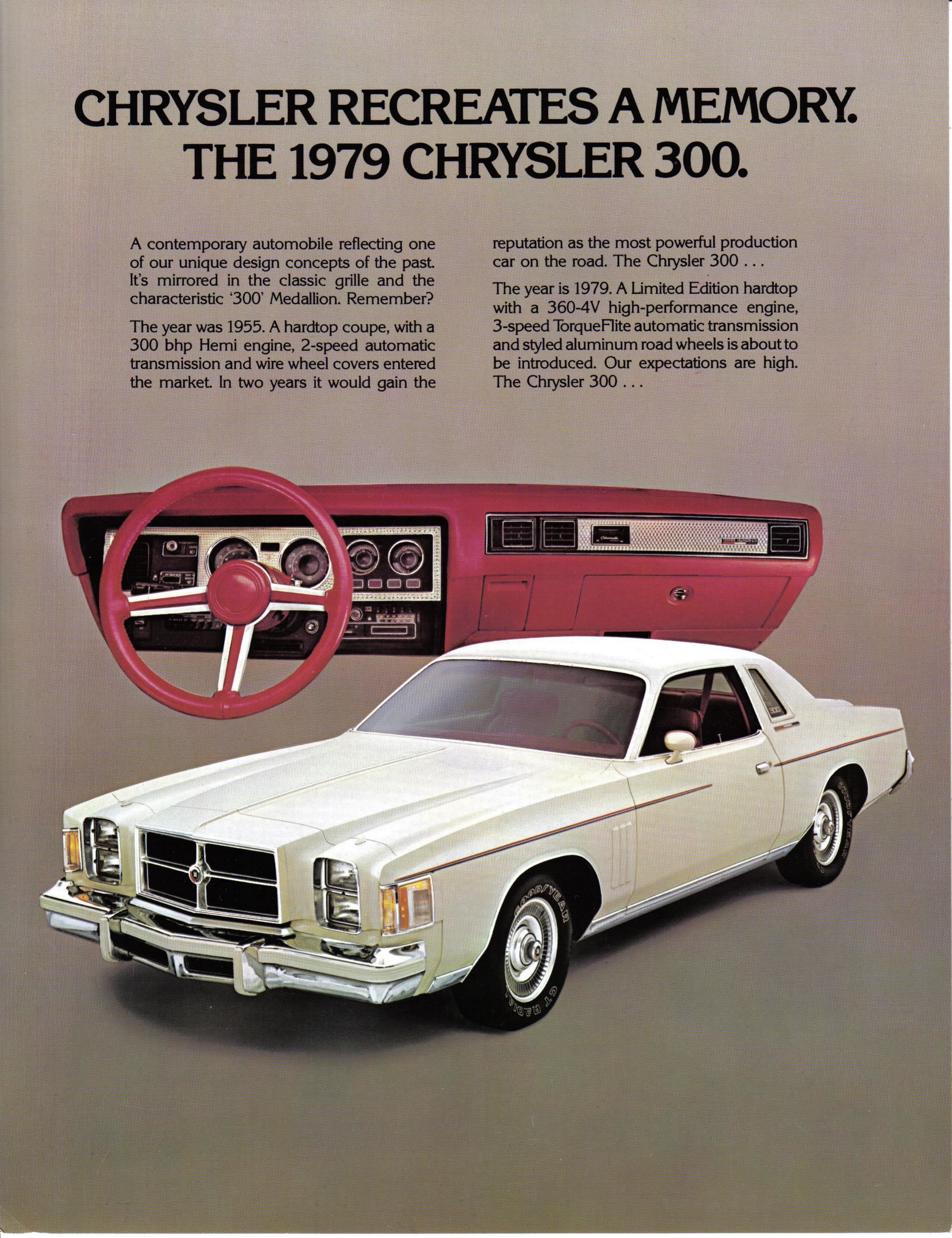 Car Brochures 1979 Chrysler 300 79c300a Jpg