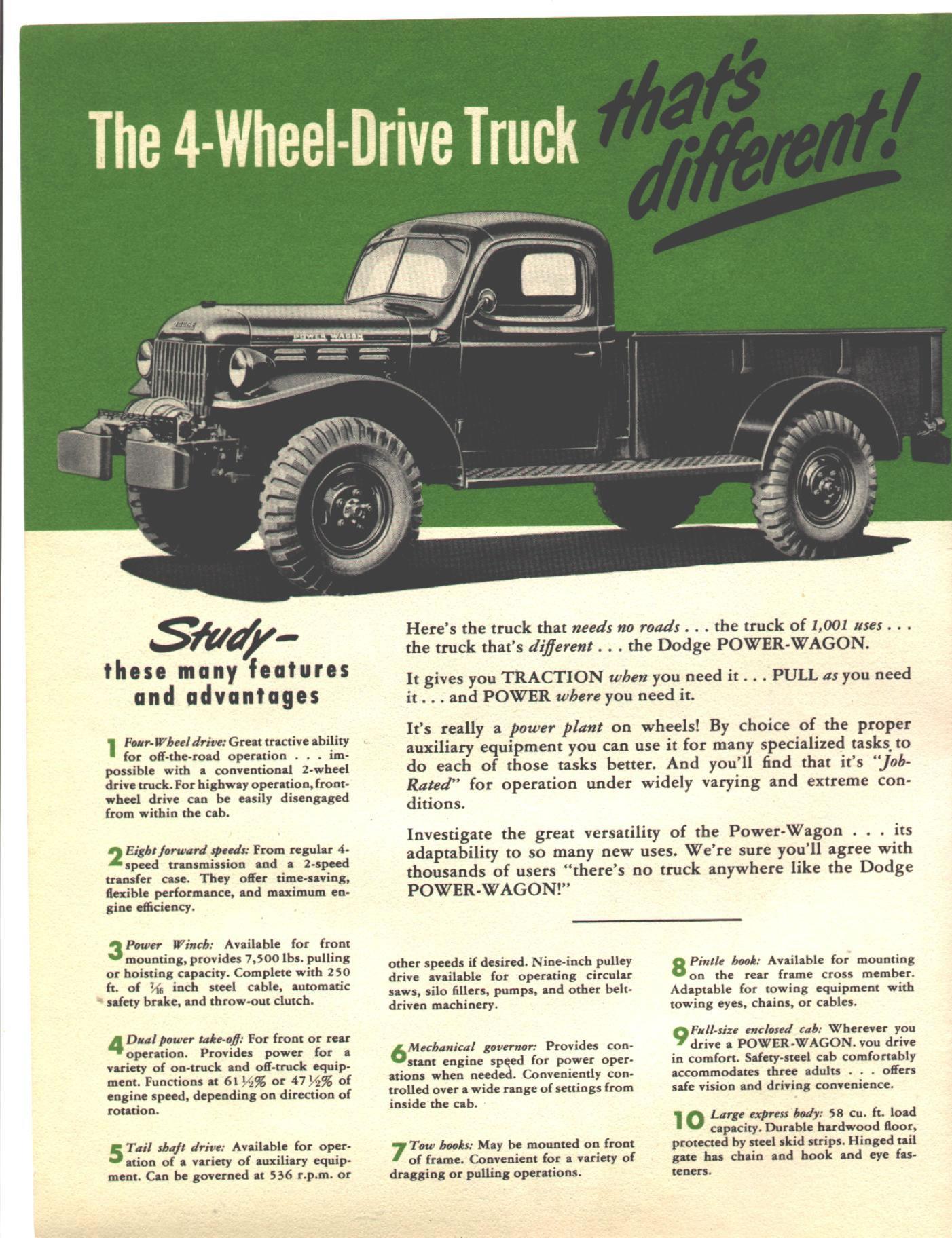 Car Brochures 1949 Dodge Power Wagon Scanner Pics 003 Click Image Below To Enlarge