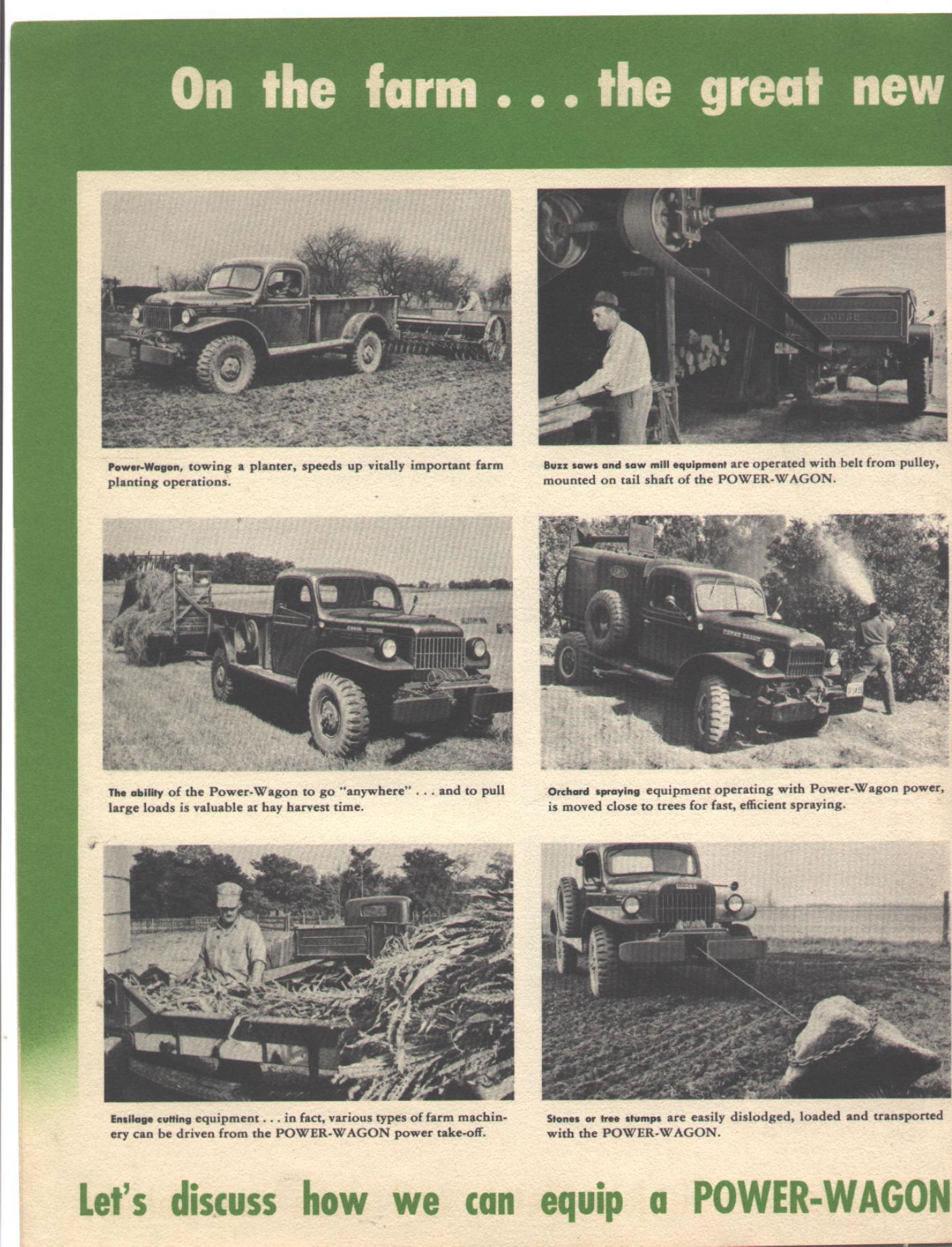 Car Brochures 1949 Dodge Power Wagon Scanner Pics 007 Click Image Below To Enlarge