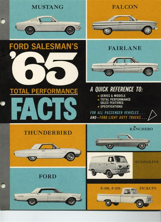 Car Brochures - Ford Salesman'S '65 Total Performance Facts / 65