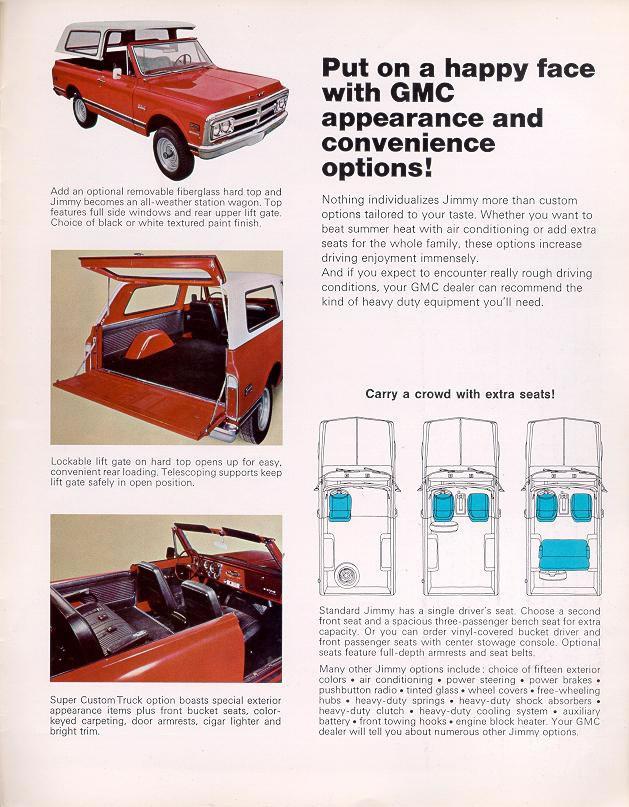 custom truck belts car brochures 1970 chevrolet and gmc truck brochures 1970 gmc