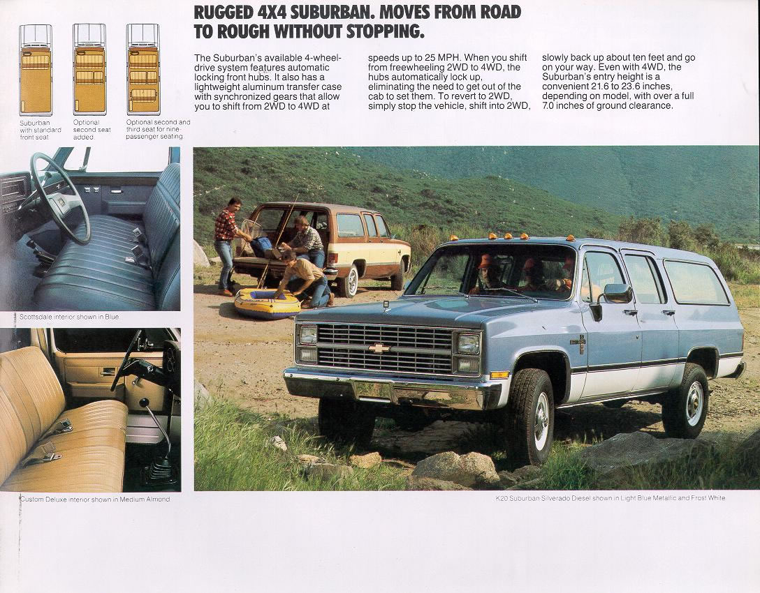 Old Chevy Trucks >> Car Brochures - 1983 Chevrolet and GMC Truck Brochures ...