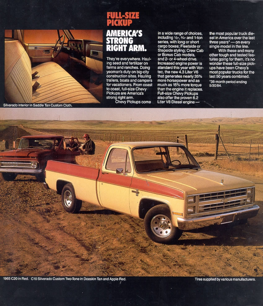 Car Brochures 1985 Chevrolet And Gmc Truck Brochures