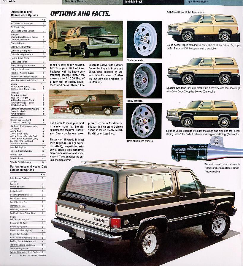 Car Brochures 1986 Chevrolet And Gmc Truck Brochures