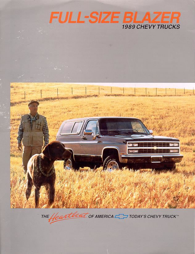Car Brochures 1989 Chevrolet And Gmc Truck Brochures 1989 Chevy