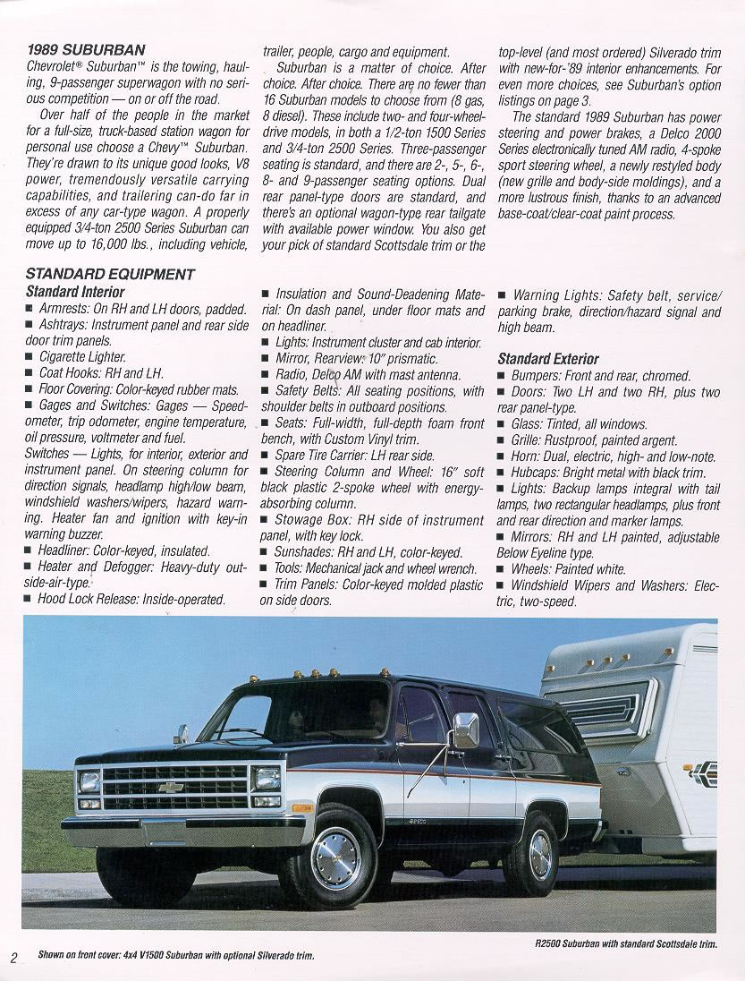 Car Brochures - 1989 Chevrolet and GMC Truck Brochures