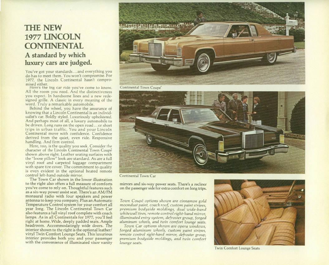Car Brochures - 1977 Lincoln Mercury Foldout Brochure / 1977