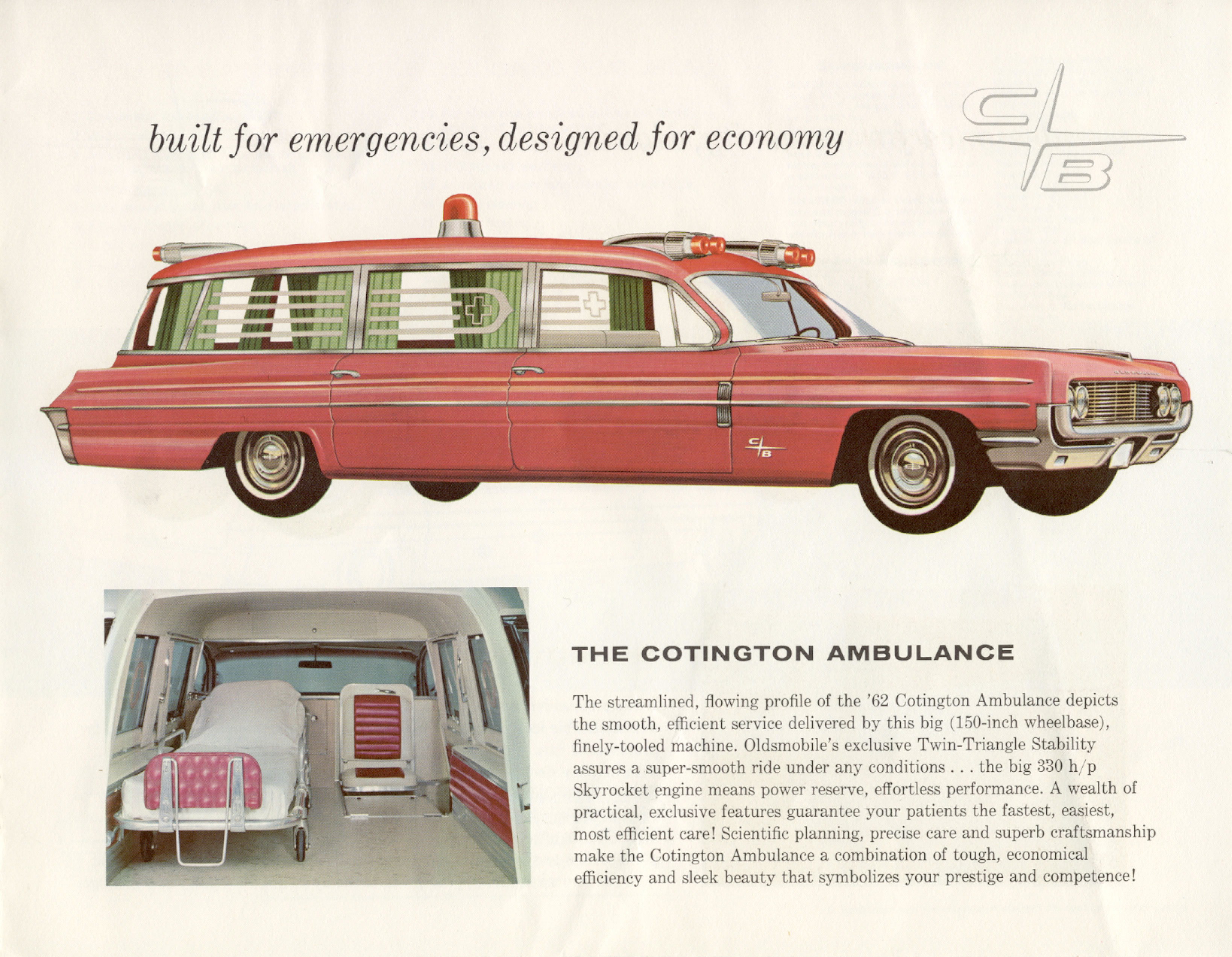 Car Brochures 1962 Oldsmobile Cotner Bevington Professional Cars – Old Car Brochure