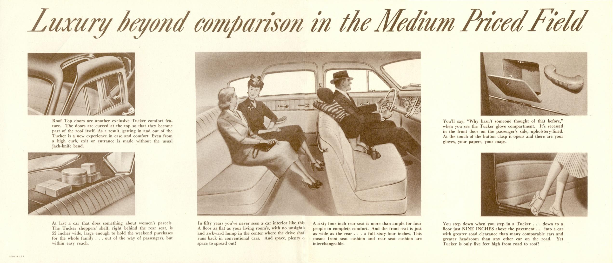 car brochures   1948 tucker brochure tucker 5