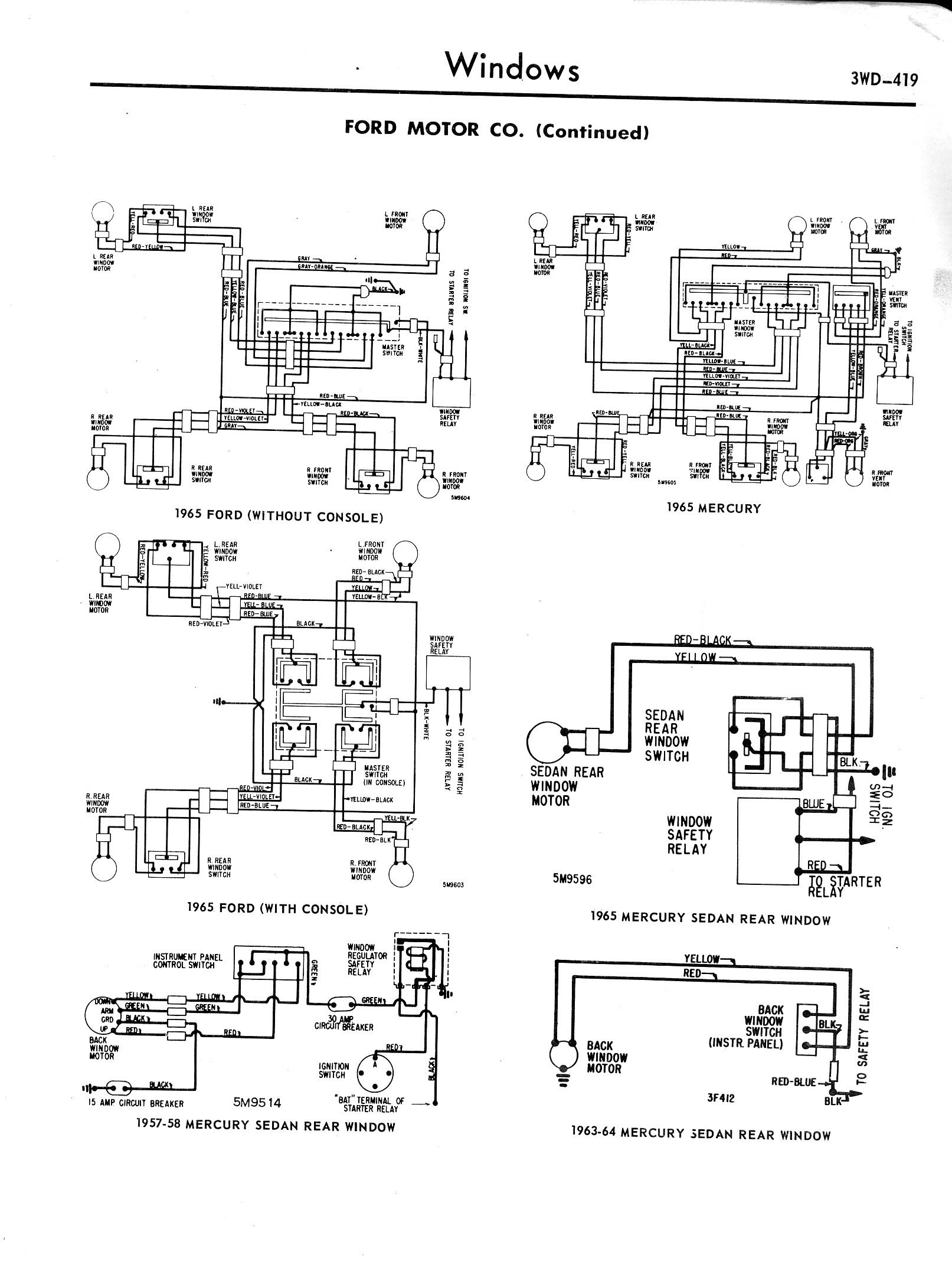 f250 6 4l fuse box diagram wiring library 2006 F250 Fuse Box Diagram 3wd 419 mercury breezeway rear window troule ford muscle forums ford 1963 mercury monterey fuse box