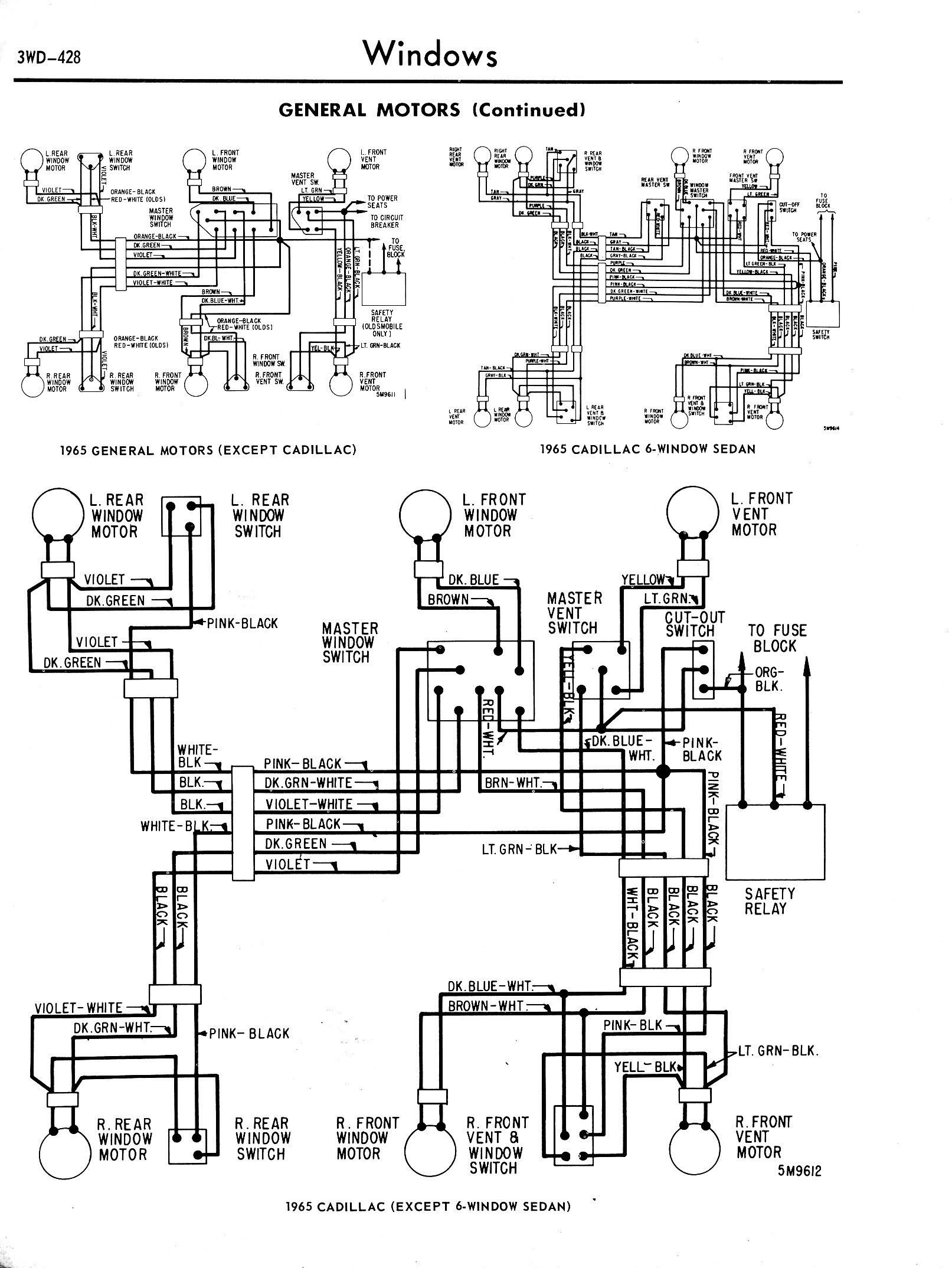 3WD 428 on 1960 lincoln wiring diagram