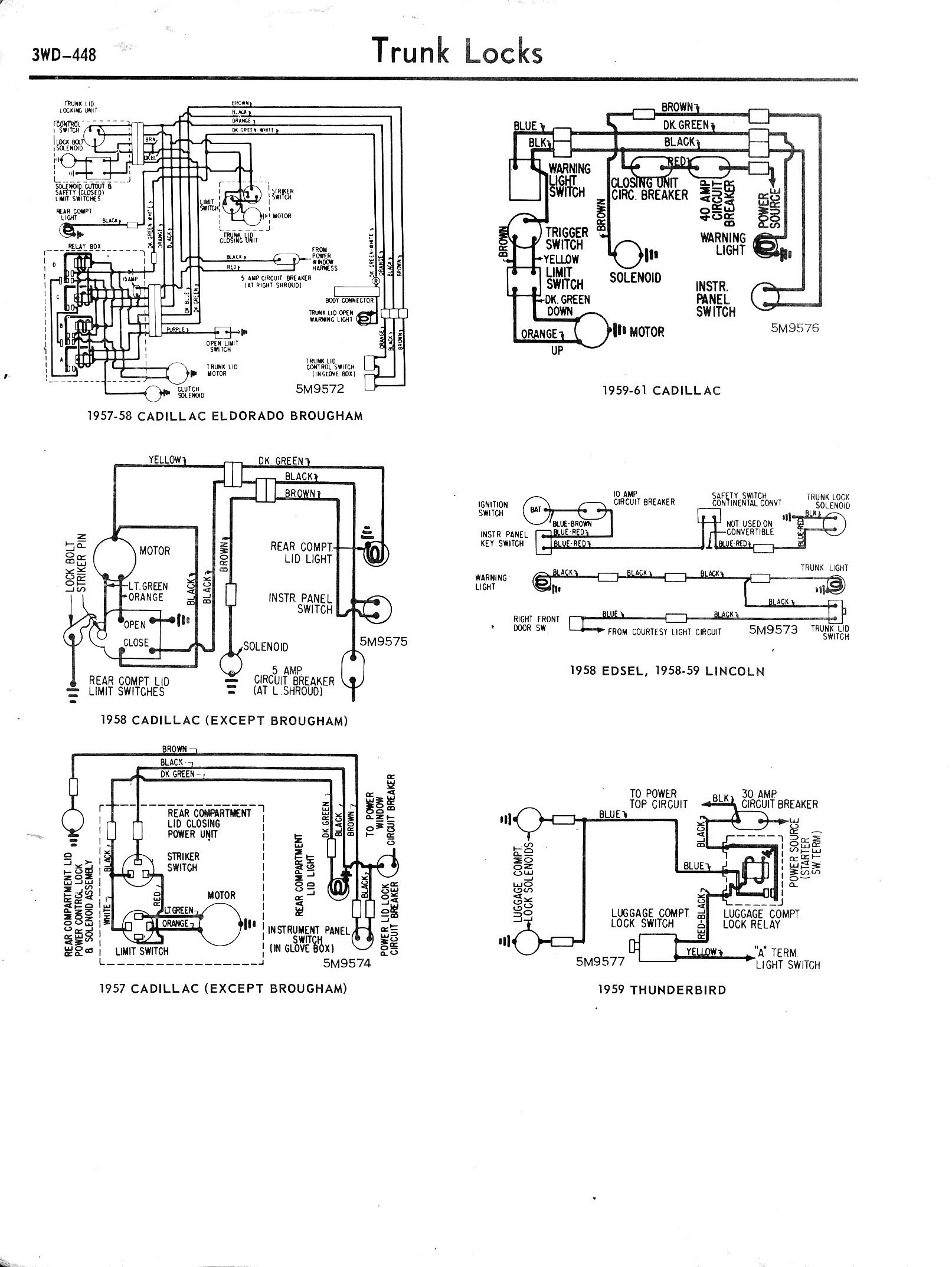 1958 Edsel Wiring Diagram Library Cadillac 1957 1965 Accessory Diagrams 3wd 448