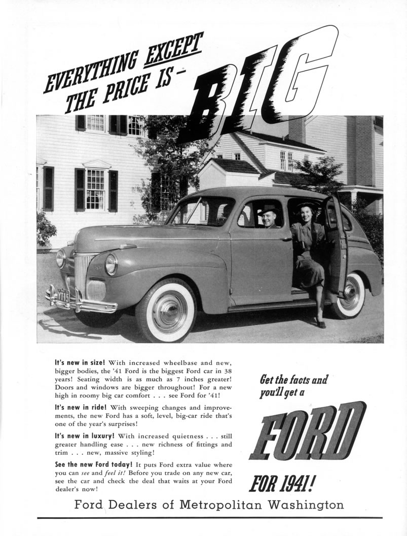 Ford ads and period pictures / 1941 ford ad-01.jpg | The Old Car ...