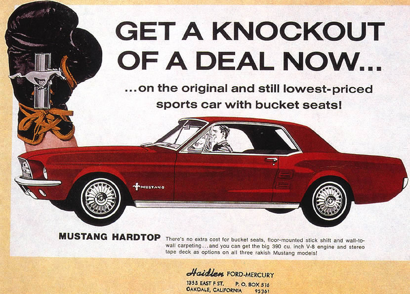 Ford ads and period pictures / 1967FordMustang390CoupeAd.jpg | The ...