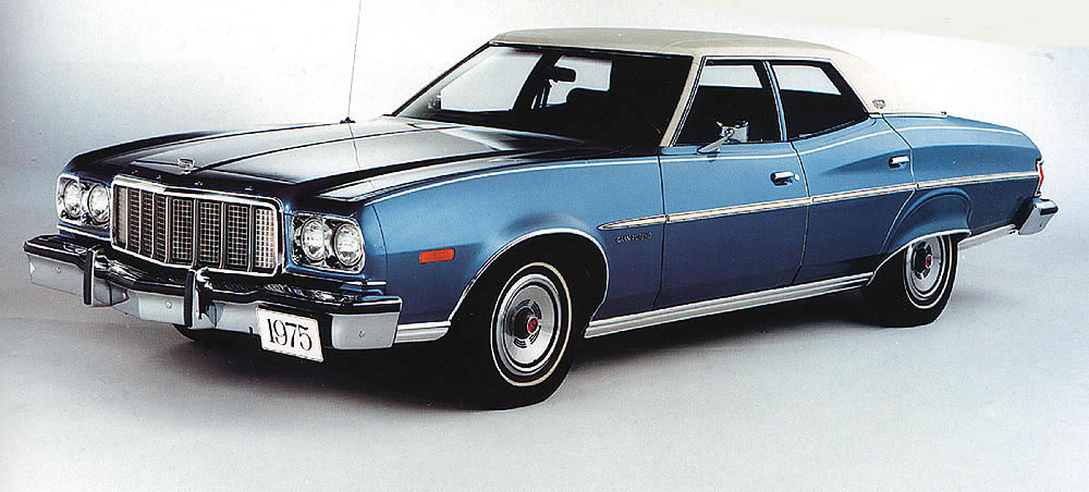 ford ads and period pictures 1975 ford gran torino. Black Bedroom Furniture Sets. Home Design Ideas