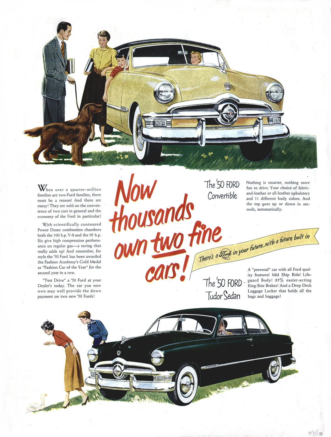 Ford ads and period pictures / Ford_1950_07_03.jpg | The Old Car ...